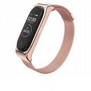Curea otel inoxidabil Tech-Protect Milaneseband Xiaomi Mi Band 3/4 Rose Gold