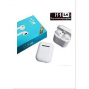 Wireless Earbuds i11 TWS Wireless Bluetooth Earphone with mic Bluetooth Headset with Mic (White In the Ear)