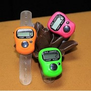 Best Quality 3pcs Hand Finger Tally Counter Digital Electronic Counter - Color Assorted