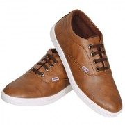 Sukun Mens Brown Lace-up Smart Casuals