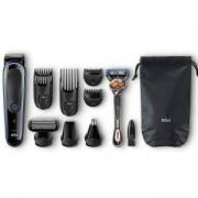 Комплект Braun MGK3085 9 в 1, Тример за лице, коса и тяло + самобръсначка Gillette - Нарушена Опаковка