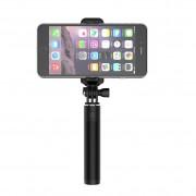 Devia 360 Rotation Selfie Stick - компактен селфи стик за мобилни телефони с 3.5 мм аудио жак (розов)