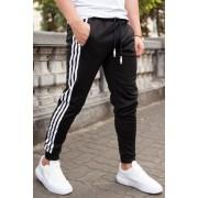 Pantaloni Stripes Negru-Alb