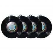 Geen 4x Plastic LP grammofoonplaat wanddecoratie 48 cm
