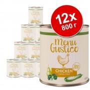 Икономична опаковка Lukullus Menu Gustico 12 х 800 г - говеждо с тиква, ябълка и риган