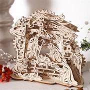 Puzzle 3D Nasterea Domnului, din lemn Ugears