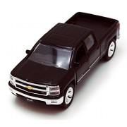 Chevy Silverado Pickup Truck, Black Jada Toys Just Trucks 97017 1/32 Scale Diecast Model Toy Car