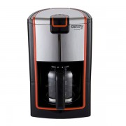 Cafetiera Camry, Putere 900W, Capacitate 1.2L, Antipicurare, Protectie la Supraincalzire, Negru/Rosu