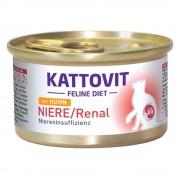 Консерви Kattovit за бъбреци (Low Protein) - 12 х 85 г пиле