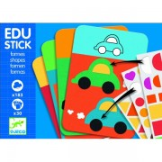 Edu-Stick Djeco,Stickere educative cu forme geometrice
