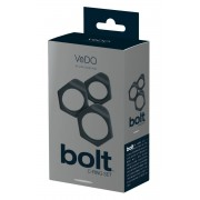 VeDO Bolt - szilikon péniszgyűrű szett (3db) -