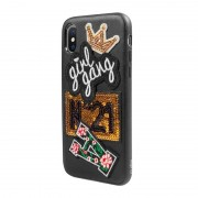 GSM Cases & hoesjes SBS Mobile Smart & Ladies Case iPhone X/XS - Girl Patch