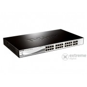 D-Link 28-Port 10/100/1000 Mbps Gigabit Smart+ Switch 4 SFP porttal (DGS-1210-28)