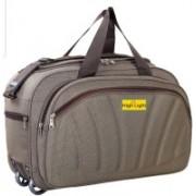 HIGH LIGHT (Expandable) Stylish Quality fabric Waterproof Travel Duffel Bag/Cabin Luggage Travel Duffel Bag(Brown)