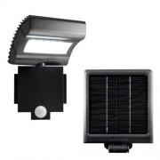 Szolár paneles LED reflektor, mozgásérzékelős
