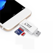 Bakeey 2-in-1 SD TF Card Reader USB3.0 + Charging Port For iPhone 7/7 Plus iPhone 6/6S Plus Mac