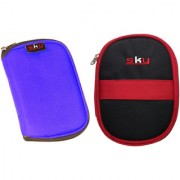Sky Hard Disk Pouch Combo Lite Blue with RedBlack