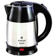 Singer 1.8-Litre Electric Kettle (Silver/Black) Electric Kettle(1.8 L, Silver, Black)