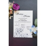 Invitatie nunta pe calc OPIS055