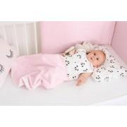 Sac de dormit bebe pentru iarna 0-6 luni, 100 bumbac, model Pink Pandas