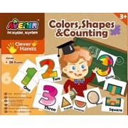 Set 26 puzzle-uri - Culori, forme si numere, 52 piese