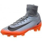Nike Kids' Jr. Mercurial Superfly V CR7 FG Soccer Cleat (Sz. 5. 5Y) Cool Grey, Metallic Hematite