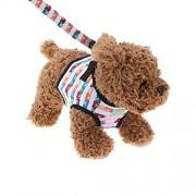 Rrimin Safety Walking Dog Puppy Pet Harness Chest Strap Vest Lead Leash(Bear)(M)