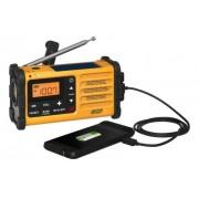 Hordozható dinamós-napelemes vészhelyzet rádió MMR-88