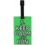 Tootpado Luggage Tag Keep Calm And Run - Green (6LNT68) - Bag Travel Tags Luggage Tag(Green)