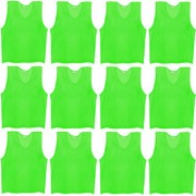 SAS Sports Training Bibs Scrimmage Vests Pennies for Soccer - Extra Large size (72 x 62cm) Green color Set of 12