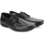 Clarks Finer Road Black Leather lace up For Men(Black)