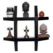 BM Wood furniture aldo wall shelf (black)