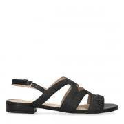 Sacha Zwarte sandalen van leer
