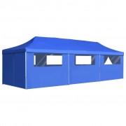 vidaXL Tenda para festas pop-up dobrável c/ 8 paredes 3x9 m azul