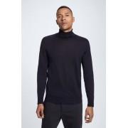 Strellson Pull-over à col roulé en laine mérinos Martin, bleu foncé taille: XL