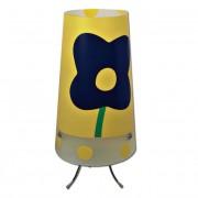 Max FC048-B13 Stolní lampa dětská žlutá - barevné kytičky