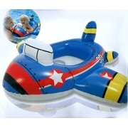 """Jet Plane Engine Shape Kiddie Float Swimming Ring, Inflatable Swim Pool Seat Toddler Water Float Ring Tube Boat for Kids Ages 1-2 Years - 35"""" X 30""""(89cm X 76cm)"""