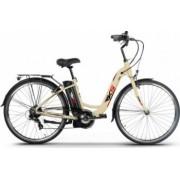 Bicicleta electrica 250W Li-Ion 36V 10.4Ah cadru si jante aluminiu Kuba MB6 alb