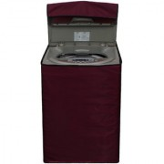 Glassiano Mehroon Waterproof Dustproof Washing Machine Cover for LG T7208TDDLP Fully Automatic 6.5 Kg Model
