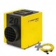 TROTEC Calefactor eléctrico TEH 20 T + Cable de extensión profesional 20 m / 230 V / 2,5 mm ²