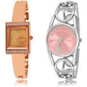 The Shopoholic Rose Gold Pink Combo New Stylist Latest Rose Gold And Pink Dial Analog Watch For Girls Women'S Leather Watches