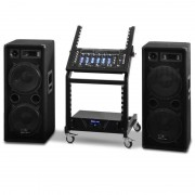 "Electronic-Star Serie ""Mars Flash"" Set Rack Star DJ PA - 400 personas (PL-Mars-Falsh-BT)"