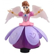Taaza Garam Kids Princess Doll Dancing Rotating Angel Girl Flashing Lights with Music