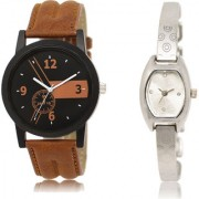 The Shopoholic Black Brown Silver Combo New Collection Black And Brown And Silver Dial Analog Watch For Boys And Girls For Womens Watches