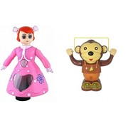 New Combo Pack of Rotational 3 D Musical And Light Flashing Dancing Princes Doll For Kid's And Rope Skipping Monkey Toy With Music And Lighting Effect (Each One ) At very Resional Price , Ideal as a Birthday Gift For Your Love One