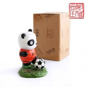 Football Panda Resin Doll The World Cup Creative Cartoon Dolls Baby Toy 9.5cm