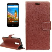 For Wileyfox Swift 2 Litchi Texture Horizontal Flip Leather Case with Holder & Card Slots & Wallet & Photo Frame (Brown)