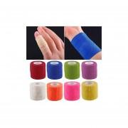 Protección Deportiva Kinesiología Autoadhesivo Elástico Deportes Cinta De Primeros Auxilios Envolvente Stretch Bandage-Verde