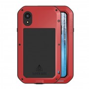 LOVE MEI Shockproof Splash-proof Dust-proof Defender Mobile Phone Cover for iPhone XR 6.1 inch - Red