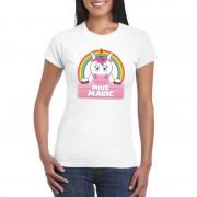 Shoppartners Miss Magic de eenhoorn t-shirt wit dames